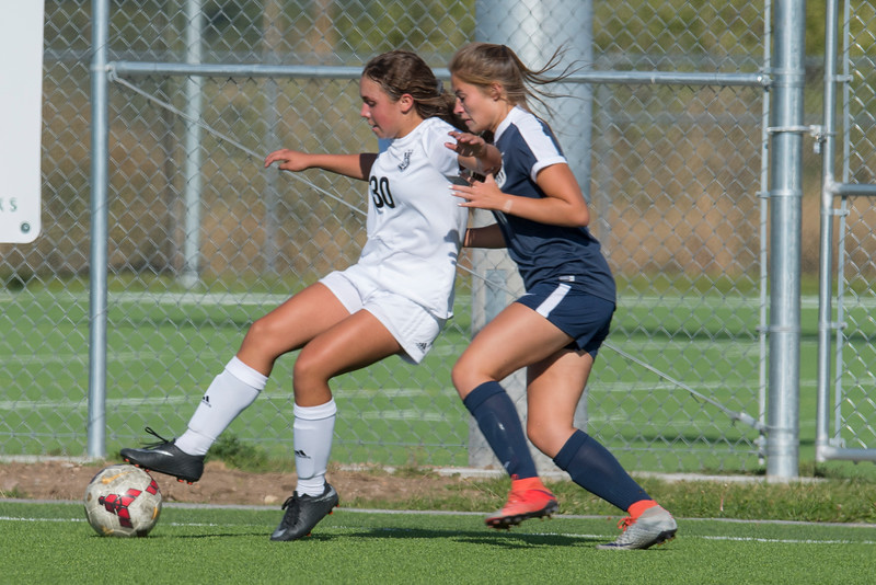 Ogden High School's girls soccer team came back in the second half for the 2-1 win over Bonneville High School at the Spence Eccles Ogden Community Sports Complex, on Monday September 25, 2017.
