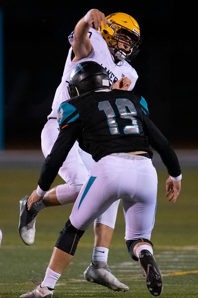 Bonneville vs Farmington during the prep football game. In Farmington, On October 2, 2020. Kamen Best 12,  Luke Archibald 19