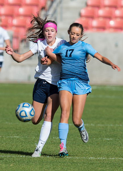 The Sky View girls soccer team outshines Bonneville Lakers 2-0 during the 4A girls state championships On Saturday October 21, 2017, at Rio Tinto Stadium in Sandy.