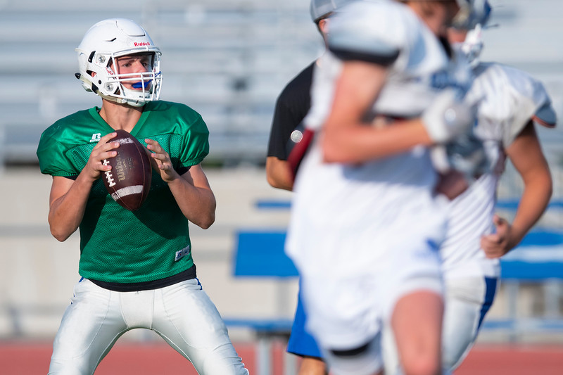 Fremont football team practices early in the morning  to be ready for the upcoming season. At Fremont high school  In Plain City, on August 3, 2020.