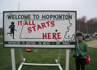 Michelle in Hopkinton - Athlete's village