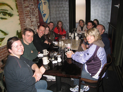 Brunch at Tremont 647 after the trials - L to R: Gen, Chris, Peter, Kelly, Ramon, Leanna, Leanna's aunt, Emily, Jerry, Karen.  Gotta love the private dining room!
