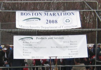 So why was the Mass Dept. of Corrections a sponsor of the marathon?