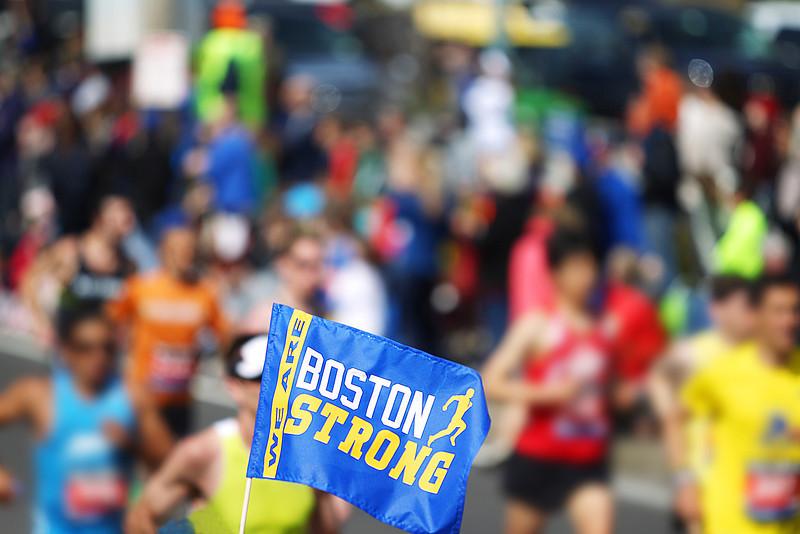 Boston Marathon Flag