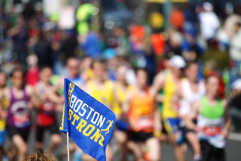 Boston Marathon Flag