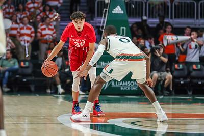 Boston University vs. University of Miami Basketball.  December 5, 2017