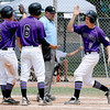 "Philippe Guegan (2) of Boulder comes in after hitting a home run against Fossil Ridge on Friday in Legion Baseball.<br /> For  more photos of the game, go to  <a href=""http://www.dailycamera.com"">http://www.dailycamera.com</a>.<br /> Cliff Grassmick  / August 3, 2012"