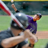 """Rueben Garcia of Boulder, had a shutout going into the 6th inning. Boulder ended up beating Fossil Ridge 17-10 during Legion play on Friday.<br /> For  more photos of the game, go to  <a href=""""http://www.dailycamera.com"""">http://www.dailycamera.com</a>.<br /> Cliff Grassmick  / August 3, 2012"""