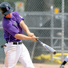 """Dylan Platt (5) of Boulderhits a  home run   against Fossil Ridge on Friday in Legion Baseball. Boulder won 17-10.<br /> For  more photos of the game, go to  <a href=""""http://www.dailycamera.com"""">http://www.dailycamera.com</a>.<br /> Cliff Grassmick  / August 3, 2012"""
