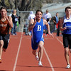 "Trent Ireland, center, of Broomfield High, wins the 100 meters.<br /> For a  photo gallery of the track meet, go to  <a href=""http://www.dailycamera.com"">http://www.dailycamera.com</a>.<br /> Cliff Grassmick/ April 16, 2011"