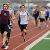 Alex Paul of Silver Creek led most of the way in the 1600 meters, but finished second.<br /> Cliff Grassmick / April 17, 2010