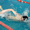 "Longmont High School's Tony Huff glides through the water in the 200-Yard Freestyle race during a Boulder county swim meet on Saturday, April 16, at the South Boulder Recreation Center in Boulder.<br /> For more photos and video go to  <a href=""http://www.dailycamera.com"">http://www.dailycamera.com</a><br /> Jeremy Papasso/ Camera"