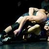 Horizon's Lucas Ibarra (top) wrestles Monarch's Jace Waldmann during the match at Monarch High School in Louisville, Thursday, Jan. 28, 2010.  <br /> KASIA BROUSSALIAN