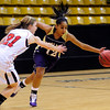 FVBGIRLS<br /> Boulder's Brianna Hall drives past Julia D'Amico of Fairview.<br /> photo by Marty Caivano/Jan. 18, 2011