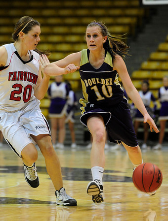 FVBGIRLS<br /> Boulder's Amy Coates pushes past Caitlin Higgins of Fairview.<br /> photo by Marty Caivano/Jan. 18, 2011