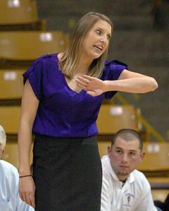 New Boulder girls coach Sara Klippert during the Fairview game.  Cliff Grassmick / January 22, 2010