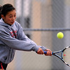 "Monica Li of Fairview plays against Boulder's #1 Miquela Newhart on Wednesday.<br /> For more photos, go to  <a href=""http://www.dailycamera.com"">http://www.dailycamera.com</a>.<br /> Cliff Grassmick / April 21, 2010"