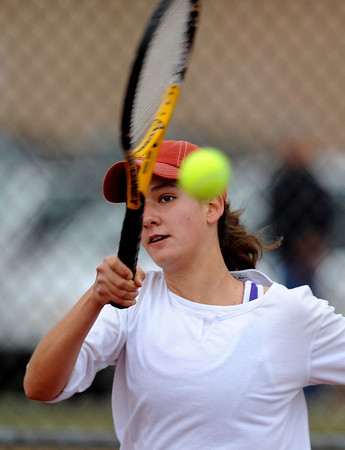 "Miquela Newhart of Boulder High plays against Monica Li of Fairview on Wednesday.<br /> For more photos, go to  <a href=""http://www.dailycamera.com"">http://www.dailycamera.com</a>.<br /> Cliff Grassmick / April 21, 2010"