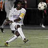 Boulder High School senior Brook Assefa passes the ball to a teammate on Thursday, Oct. 14, during a soccer match against Fort Collins at Recht Field in Boulder. The final score was 2-2 after two overtimes.<br /> Jeremy Papasso/ Camera