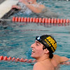 SWIM<br /> Boulder's Ben Searchinger reacts after winning the 500 freestyle.<br /> Photo by Marty Caivano/Camera/March 16, 2010