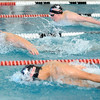 SWIM<br /> Boulder's Jake O'Hair, left, leads Ken Takahashi, foreground, and Game Muir of Fairview in the 200 individual medley.<br /> Photo by Marty Caivano/Camera/March 16, 2010