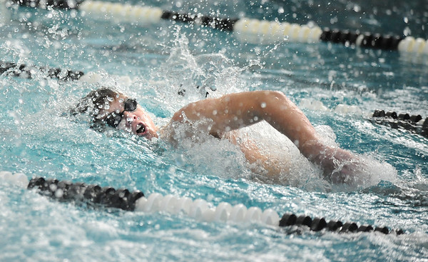 SWIM<br /> Fairview's Kevin McClellen swims the 100 freestyle.<br /> Photo by Marty Caivano/Camera/March 16, 2010