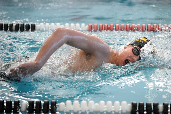 SWIM<br /> Boulder's Marshall McCurdy swims the 500 freestyle.<br /> Photo by Marty Caivano/Camera/March 16, 2010