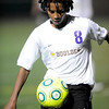 Boulder's Brook Assefa gains control of the ball while playing against Rocky Mountain during their soccer game at Recht Field in, Colorado October 13, 2009.  CAMERA/Mark Leffingwell (UNITED STATES)