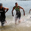 """Tim O'Donnell, left,  and Matt Reed, battle out of the water in the Boulder Peak Triathlon on Sunday. O'Donnel was the eventual winner.<br /> For more photos  and video of the Boulder Peak, go to  <a href=""""http://www.dailycamera.com"""">http://www.dailycamera.com</a><br />  Cliff Grassmick / July 11, 2010"""