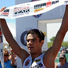 """Tim O'Donnell wins the Boulder Peak Triathlon pro men division on Sunday at the Boulder Reservoir.<br /> For more photos  and video of the Boulder Peak, go to  <a href=""""http://www.dailycamera.com"""">http://www.dailycamera.com</a><br />  Cliff Grassmick / July 11, 2010"""