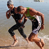 "Tim O'Donnell, left,  and Matt Reed, battle out of the water in the Boulder Peak Triathlon on Sunday. O'Donnel was the eventual winner.<br /> For more photos  and video of the Boulder Peak, go to  <a href=""http://www.dailycamera.com"">http://www.dailycamera.com</a><br />  Cliff Grassmick / July 11, 2010"