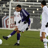 Boulder High School's Luis Castrulta passes the ball during the boys Class 5A State Championship against Smoky Hill High School on Monday, Nov. 12, at Dick's Sporting Goods Park in Commerce City. Boulder won the game 3-1.<br /> Jeremy Papasso/ Camera