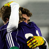 Boulder High School's Mason Douillard hugs teammate Lake Brant after Brant scored a goal during the boys Class 5A State Championship against Smoky Hill High School on Monday, Nov. 12, at Dick's Sporting Goods Park in Commerce City. Boulder won the game 3-1.<br /> Jeremy Papasso/ Camera