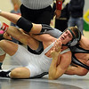 "Nick Stager, left, of Niwot, was able to beat CT Robinson of Silver Creek 3-2.<br /> For more wrestling photos, go to  <a href=""http://www.dailycamera.com"">http://www.dailycamera.com</a>.<br /> Cliff Grassmick / January 9, 2010"