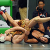 "Michael Chavez, right, of Fairview prepares to pin Casey Crescentini of Erie in the  119 lb. consolation match at Boulder Valley Invitational.<br /> For more wrestling photos, go to  <a href=""http://www.dailycamera.com"">http://www.dailycamera.com</a>.<br /> Cliff Grassmick / January 9, 2010"