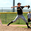 "Boulder Wells Fargo Advisor pitcher Terin Marcotte winds up for the pitch during a baseball game against the Monarch Coyotes on Sunday, July 24, at Monarch High School in Louisville. Boulder defeated Monarch 13-9. For more photos of the game go to  <a href=""http://www.dailycamera.com"">http://www.dailycamera.com</a><br /> Jeremy Papasso/ Camera"