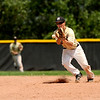 """Monarch's Ryan Norton stops a ground ball and makes the third out of the seventh inning during a baseball game against the Boulder Wells Fargo Advisors on Sunday, July 24, at Monarch High School in Louisville. Boulder defeated Monarch 13-9. For more photos of the game go to  <a href=""""http://www.dailycamera.com"""">http://www.dailycamera.com</a><br /> Jeremy Papasso/ Camera"""