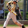 "Monarch's Ryan Norton hits the ball before being thrown out at first base during a baseball game against the Boulder Wells Fargo Advisors on Sunday, July 24, at Monarch High School in Louisville. Boulder defeated Monarch 13-9. For more photos of the game go to  <a href=""http://www.dailycamera.com"">http://www.dailycamera.com</a><br /> Jeremy Papasso/ Camera"