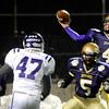 "Boulder High School quarterback Philip Swisher throws a pass during a football game against Arvada West High School on Friday, Oct. 28 at Recht Field in Boulder. For more photos of the game go to  <a href=""http://www.dailycamera.com"">http://www.dailycamera.com</a><br /> Jeremy Papasso/ Camera"
