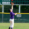 "Boulder's Francis Lanzano makes a leaping catch at short stop on Monday, July 2, during a baseball game against Brighton at the Scott Carpenter Park baseball field in Boulder. For more photos of the game go to  <a href=""http://www.dailycamera.com"">http://www.dailycamera.com</a><br /> Jeremy Papasso/ Camera"