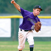 "Boulder's Francis Lanzano makes an out at first base on Monday, July 2, during a baseball game against Brighton at the Scott Carpenter Park baseball field in Boulder. For more photos of the game go to  <a href=""http://www.dailycamera.com"">http://www.dailycamera.com</a><br /> Jeremy Papasso/ Camera"