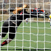 "Centaurus High School goalkeeper Samantha Maierhofer misses a shot by a Boulder High School player during a soccer game against Boulder High School on Saturday, April 2, at Recht Field in Boulder. Boulder defeated Centaurus 2-0. For more photos go to  <a href=""http://www.dailycamera.com"">http://www.dailycamera.com</a><br /> Jeremy Papasso/ Camera"