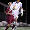 """Boulder High School's Sushant Gurung stops a pass during a playoff game against Chatfield High School on Monday, Oct. 29, at Recht Field in Boulder. Boulder won the game 3-2. For more photos of the game go to  <a href=""""http://www.dailycamera.com"""">http://www.dailycamera.com</a><br /> Jeremy Papasso/ Camera"""