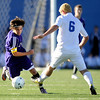 "Boulder High School junior ""Paco"" Resendiz dribbles the ball past Cherry Creek sophomore Nick Groesser during the Class 5A State soccer semifinals against Cherry Creek on Saturday, Nov. 6, at Englewood High School. Cherry Creek defeated Boulder 2-1.<br /> For more photos go to  <a href=""http://www.dailycamera.com"">http://www.dailycamera.com</a><br /> Photo by JEREMY PAPASSO"