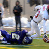 "Fairview High School's Sam Martin reaches in for a touchdown while being tackled by Luis Escobar during a game against Boulder High School on Friday, Oct. 26, at Recht Field in Boulder. Fairview won the game. For more photos of the game go to  <a href=""http://www.dailycamera.com"">http://www.dailycamera.com</a><br /> Jeremy Papasso/ Camera"