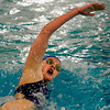 """Boulder High School freshman Amanda Richey races through the water in the girls 500 Yard Freestyle event on Thursday, Jan. 6, during a swim meet against Fairview High School at the North Boulder Recreation Center pool in Boulder. Richey took first place in the race.<br /> For more photos go to  <a href=""""http://www.dailycamera.com"""">http://www.dailycamera.com</a><br /> Jeremy Papasso/ Camera"""