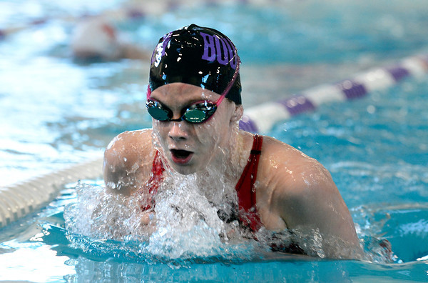 "Boulder High School's Haley Rowley swims the 200-yard IM during a swim meet against Fairview High School on Thursday, Jan. 17, at the North Boulder Recreation Center. Rowley won the race. For more photos of the meet go to  <a href=""http://www.dailycamera.com"">http://www.dailycamera.com</a><br /> Jeremy Papasso/ Camera"