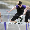 TRACK<br /> Boulder's Archie Adams wins the 300 hurdles.<br /> Photo by Marty Caivano/Camera/March 17, 2010