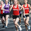 Fairview's Patricia Brennan receives the baton from Emily Chatburn en route to a win in the 4 x 100 relay. <br /> <br /> Photo by Marty Caivano/Camera/March 17, 2010