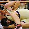 WRESTLE<br /> Boulder's Stone Parks wrestles Gerardo Wharton of Fairview in the 189-pound class.<br /> Photo by Marty Caivano/Camera/Dec. 9, 2010